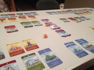 Our first game of Machi Koro complete!